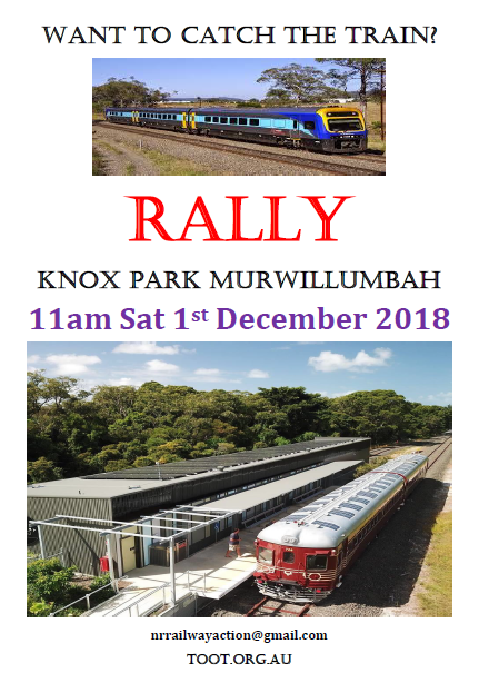 TOOT Rally 11am Sat 1 Dec M'bah | Caldera Environment Centre